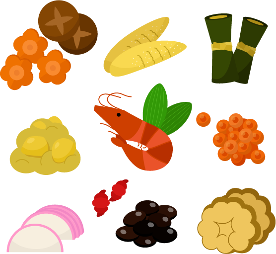 おせち料理のイラスト1