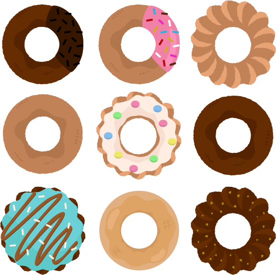 可愛いドーナツのイラスト