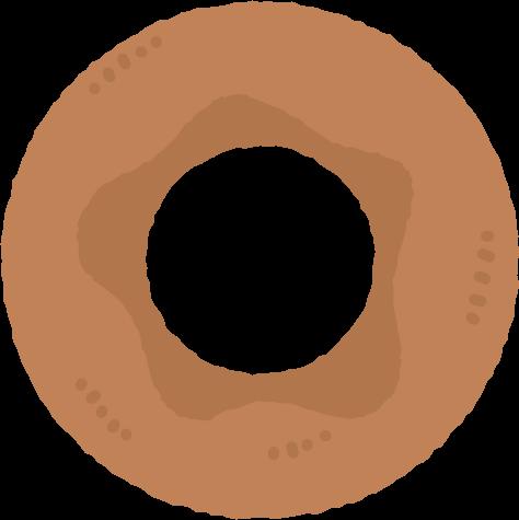 プレーンドーナツのイラスト