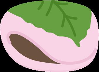 長命寺の桜餅のイラスト
