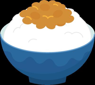 納豆ご飯のイラスト1