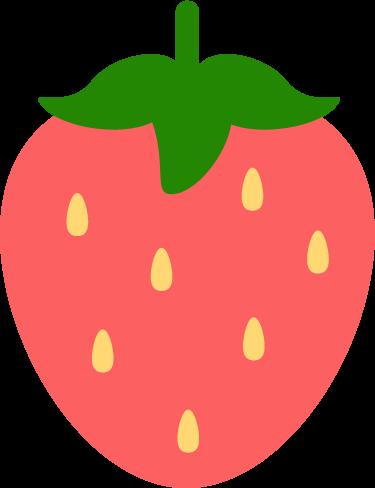 ピンク色の苺のイラスト