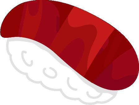 お寿司のイラスト(マグロの赤身)