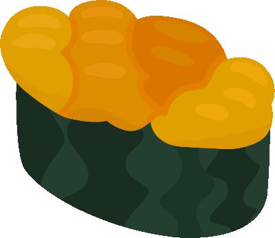 お寿司のイラスト(うに)