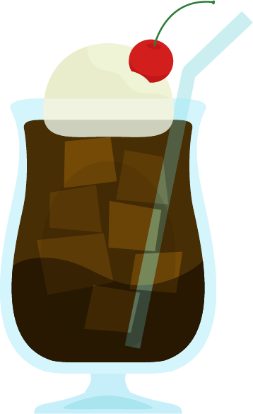 コーヒーフロートのイラスト