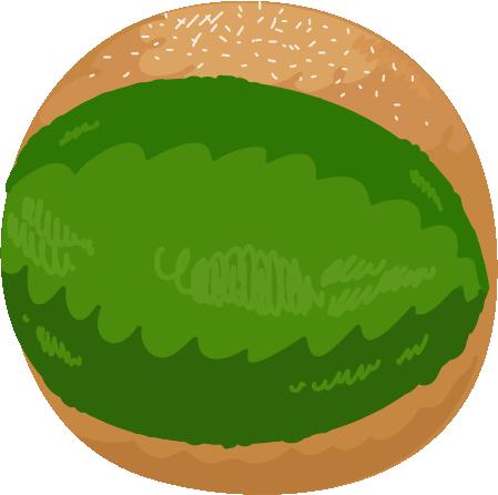 抹茶のマリトッツォのイラスト