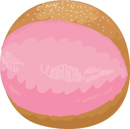 いちごのマリトッツォのイラスト