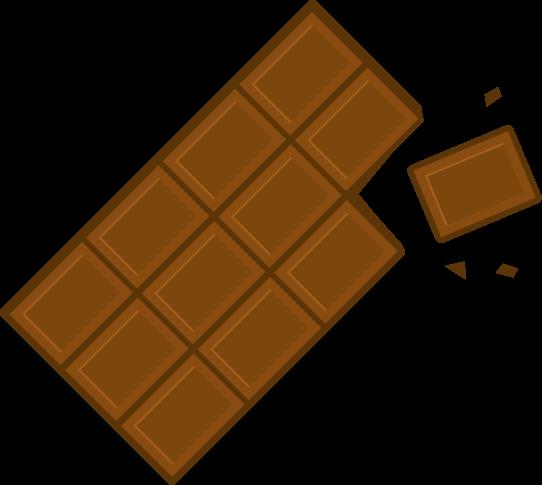 板チョコのイラスト(欠け)