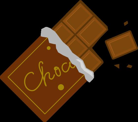 板チョコのイラスト(欠け・パッケージ)