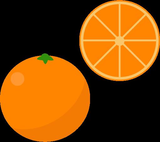 オレンジのイラスト(輪)