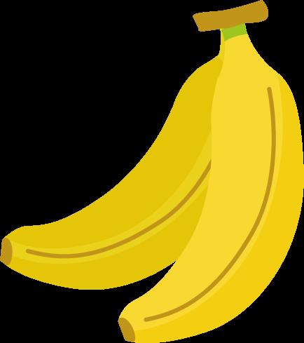 バナナのイラスト(2本)