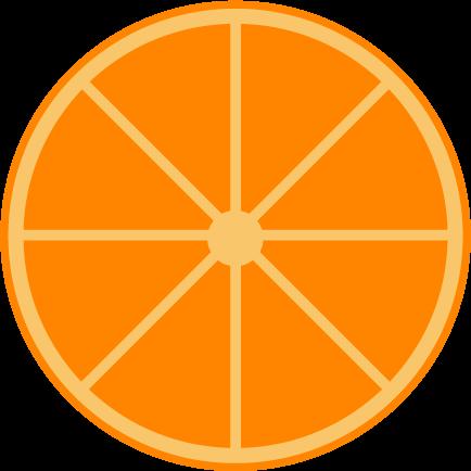 輪切りのオレンジのイラスト