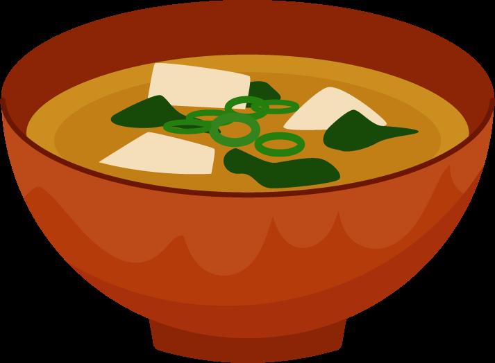 味噌汁のイラスト1 | 無料イラスト素材のillalet
