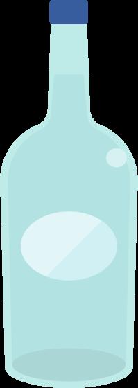 瓶に入った水のイラスト