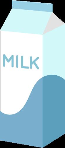 牛乳(1000ml)のイラスト