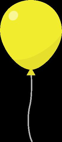 風船のイラスト(黄)