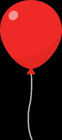 風船のイラスト(赤)