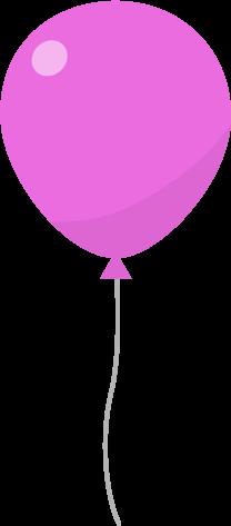 風船のイラスト(ピンク)