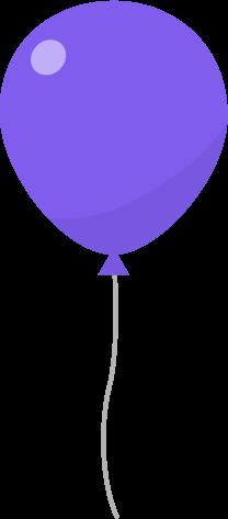 風船のイラスト(紫)