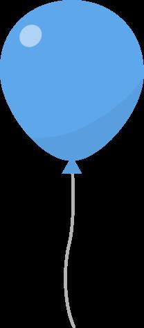 風船のイラスト(青)