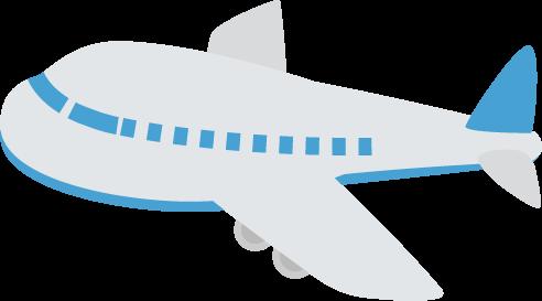 飛行機のイラスト(青)1