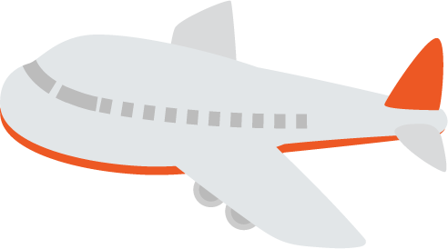 飛行機のイラスト(赤)1