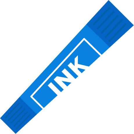 青色のカラーペンのイラスト