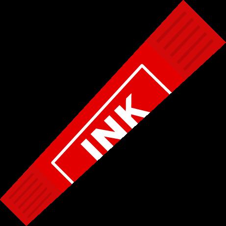 赤色のカラーペンのイラスト