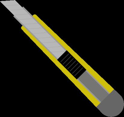 刃の出たカッターのイラスト