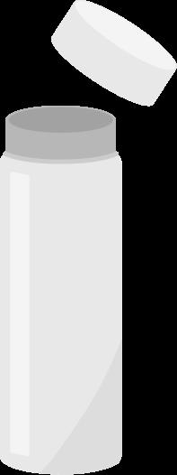 白いスリムボトルのイラスト