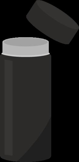 黒いステンレスボトルのイラスト