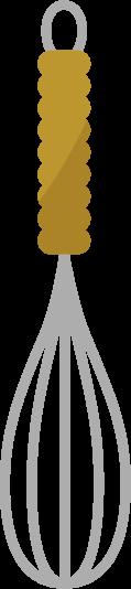 調理用の泡立て器のイラスト