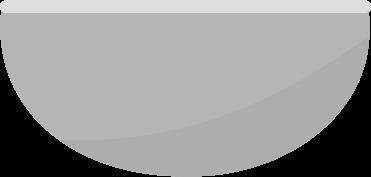調理用のボウルのイラスト(真横)