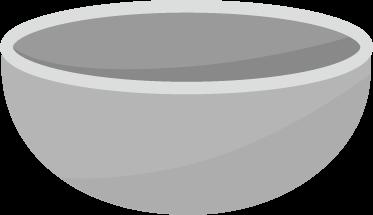 調理用のボウルのイラスト