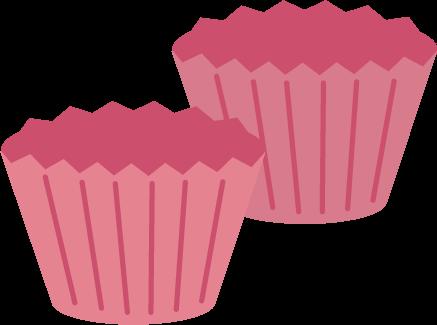 お菓子の型のイラスト(ピンク)