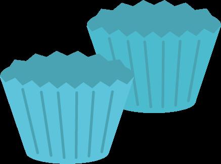 お菓子の型のイラスト(青)