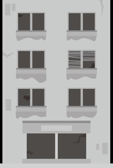 廃ビルのイラスト