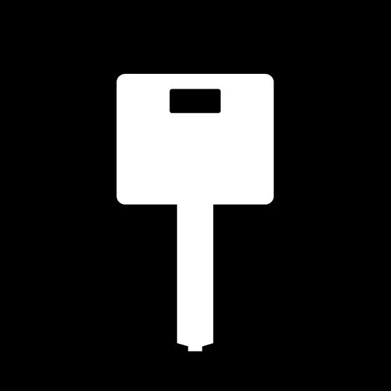 鍵のアイコンイラスト(丸・白黒)