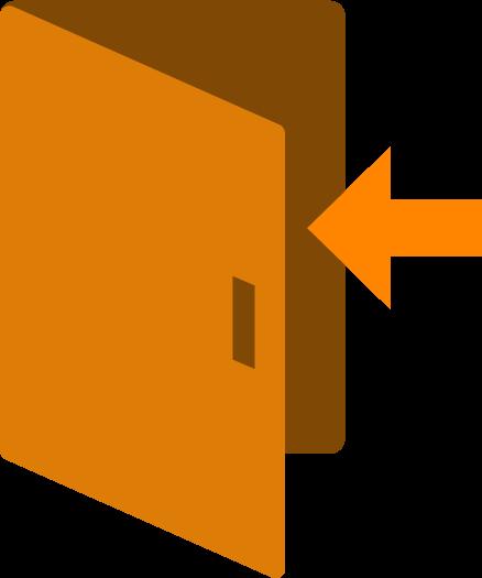 扉のアイコンイラスト