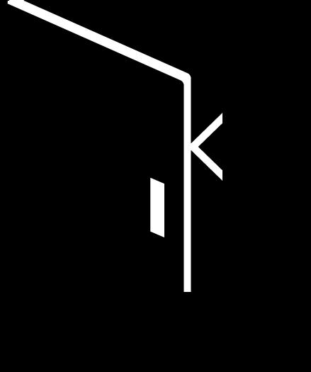 扉のアイコンイラスト(白黒)