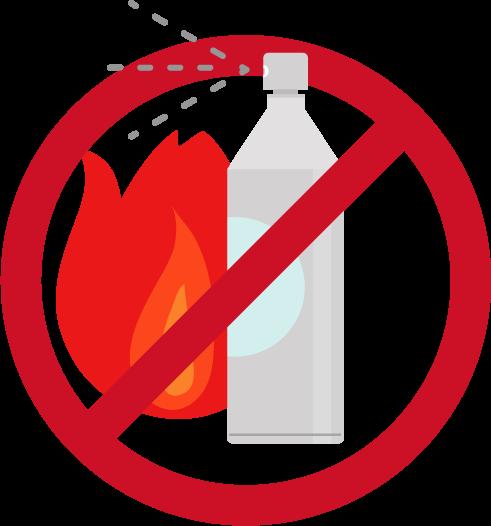 スプレー缶火気厳禁のアイコンイラスト2
