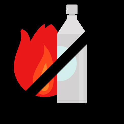 スプレー缶火気厳禁のアイコンイラスト3