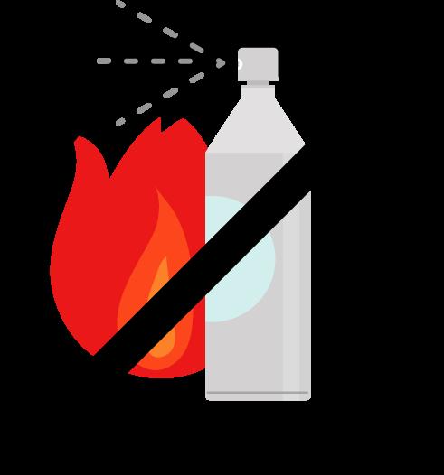 スプレー缶火気厳禁のアイコンイラスト4