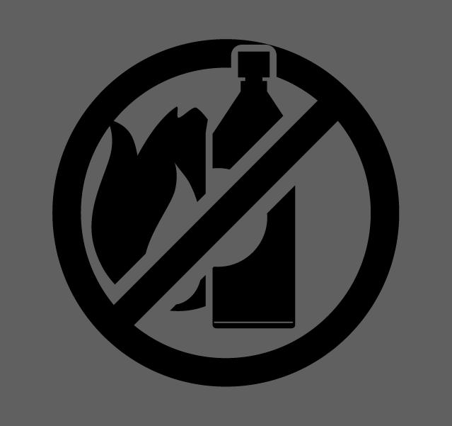 スプレー缶火気厳禁のアイコンイラスト(白黒)1