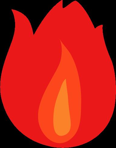 炎のアイコンイラスト1