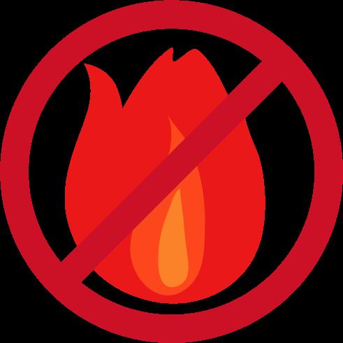 炎のアイコンイラスト2