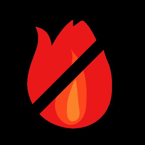 炎のアイコンイラスト3