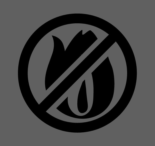 炎のアイコンイラスト(白黒)2