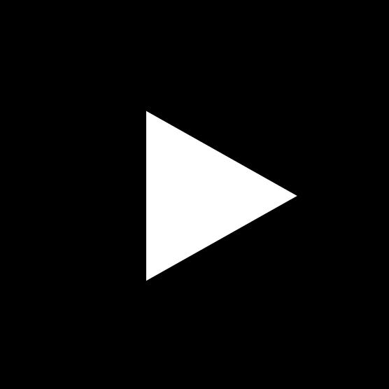 再生ボタンのアイコンイラスト(丸・白黒)