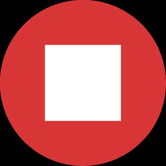 「停止」ボタンのアイコンイラスト(丸)